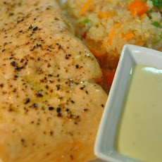 Salmon Steaks With Wasabi Mayonnaise
