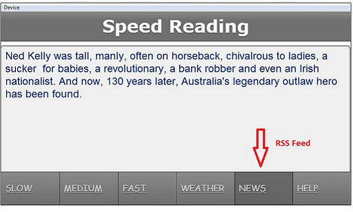 Speed Reading Application