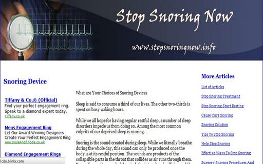 Stop Snoring Now