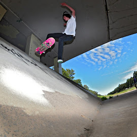 No Comply - Luke Whitford by Matty Hill - Sports & Fitness Skateboarding