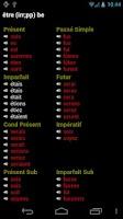 Screenshot of French Verbs
