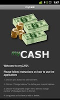 Screenshot of myCash