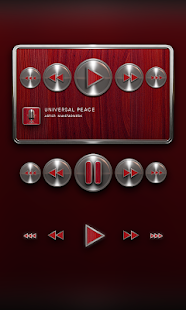 Poweramp Widget Red Snake - screenshot