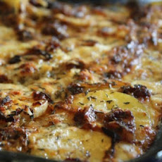 Potato Gratin with Bacon and Thyme
