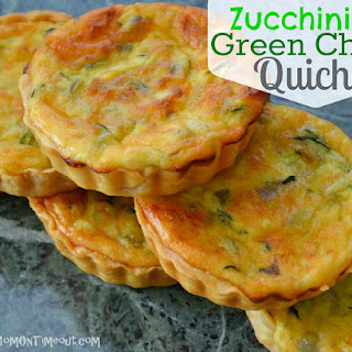 Zucchini & Green Chile Quiche {Recipe}
