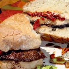 Portobello Mushroom Sandwiches With Cranberry Dijon Mustard