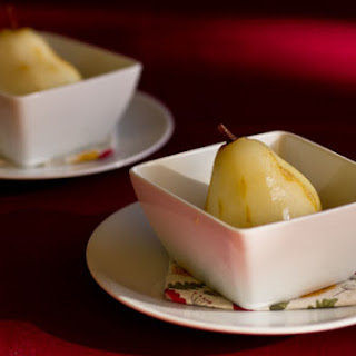 Spiked Poached Pears