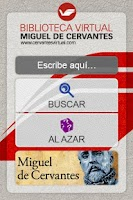 Screenshot of Biblioteca Virtual Cervantes