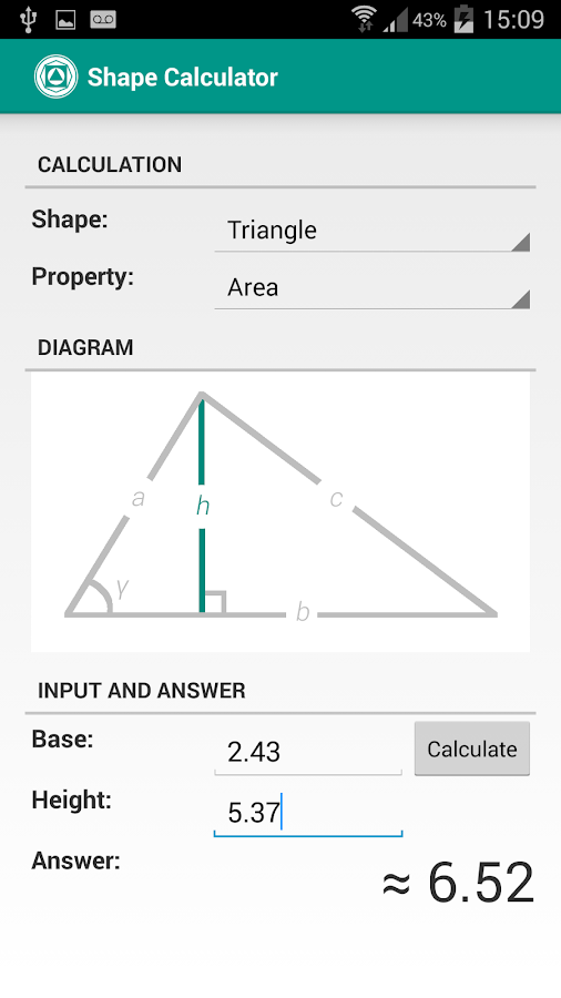 Shape Calculator Screenshot 3