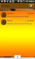 Screenshot of GO SMS THEME/TigerTunes