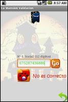 Screenshot of La Mansión Validación