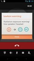 Screenshot of tawkon | track phone radiation