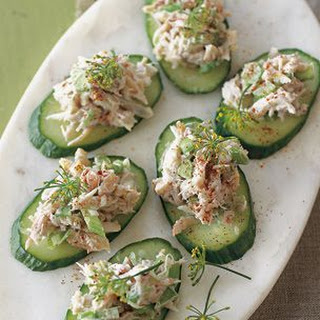 Crab and Cucumber Canapés