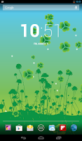 Screenshot of Lucky Clover Live Wallpaper