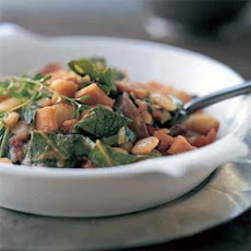 Collard Greens with Lima Beans and Smoked Turkey