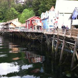 Juneau, Alaska shopping market by Stephen Terakami - Novices Only Street & Candid ( juneau alaska harbor river shops )