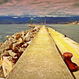 Breakwater by Tihomir Beller - City,  Street & Park  Skylines ( rijeka, breakwater, sea, dock )