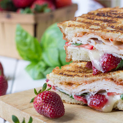 Strawberry, Brie, and Turkey Panini