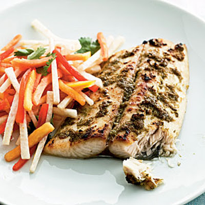 Jerk Mackerel with Papaya Salad