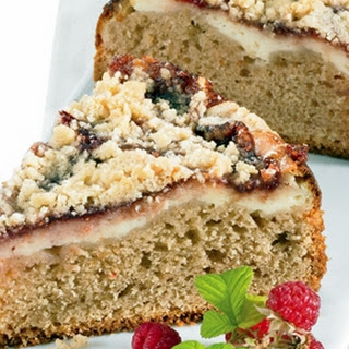 Raspberry & Cinnamon Cream Cheese Coffee Cake