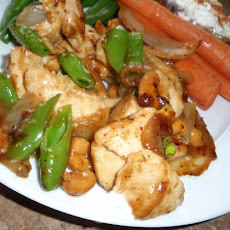 Chicken Stir Fry with Snow Peas and Cashew Nuts