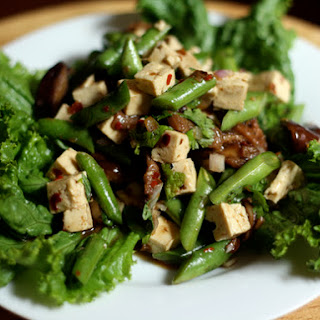 Tofu, Green Bean and Shiitake Salad