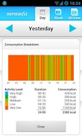 Screenshot of Sensorfit Activity Tracker