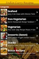 Screenshot of India Curry Recipes