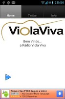 Screenshot of Rádio Viola viva