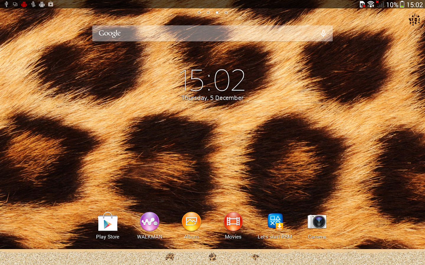 XPERIA™ African Leopard Theme Screenshot 4