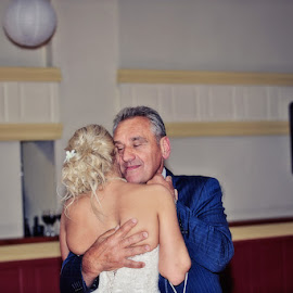 Love between Father and Daughter by Alan Evans - Wedding Reception ( brides father, wedding photography, great ocean road, father daughter dance, lorne, aj photography, lorne wedding photographer, wedding dress, wedding reception, father daughter, father, reception, great ocean road wedding photographer, wedding, wedding day, bride )