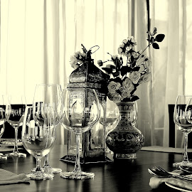 Perfect Table by Sunil Narula - Wedding Ceremony ( food & drink, wedding, art, black & white )