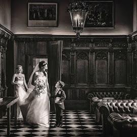 Hazlewood Castle Bride by Pete Bristo MBE  - Wedding Bride