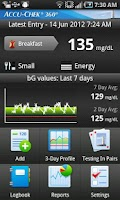 Screenshot of ACCU-CHEK® 360° Diabetes Mgmt.