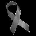 Gray Awareness Ribbon Clock icon