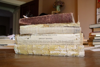 exposed book spines