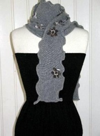 gray vintage cashmere scarf