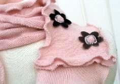 pink vintage cashmere scarf detail