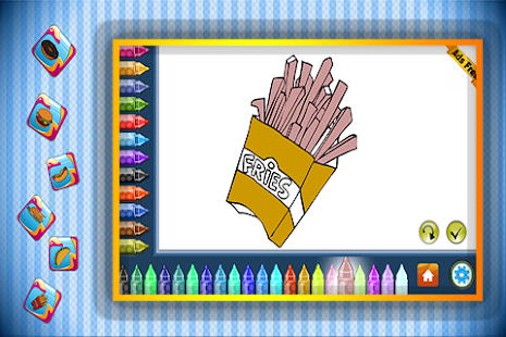 Coloring Book Fast Food - screenshot