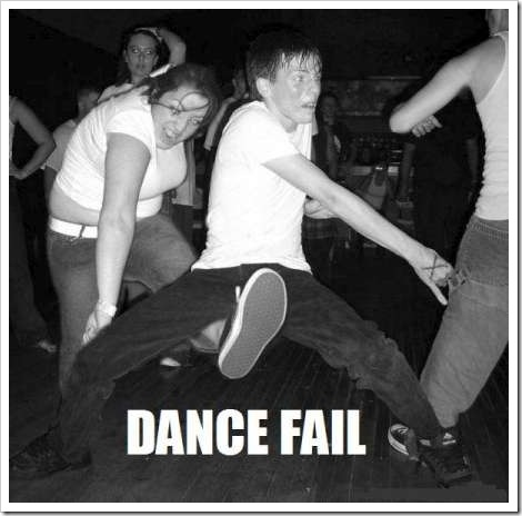 Funny dancing picture - Dance fail.