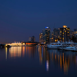 Vancouver at night by Lance Nguyen - City,  Street & Park  Skylines