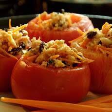Steamed Stuffed Tomatoes