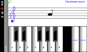 Screenshot of ¼ learn to read music notes
