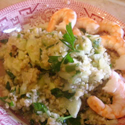Coriander Tabbouleh Salad with Shrimp