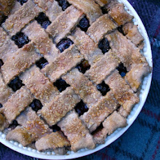Deep-filled Cherry Pie With A Chocolate Shortcrust Lattice Top