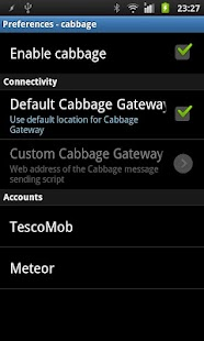 WebSMS: Cabbage Connector - screenshot