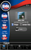 Screenshot of La Radio Plus