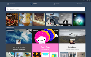 Screenshot of Tumblr