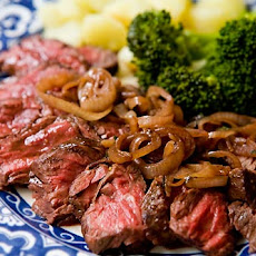 Hanger Steak with Shallots