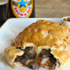 Cornish Pasty With Balsamic And Red Wine Beef.